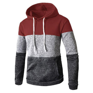 Three-Color Stitching Hoodie