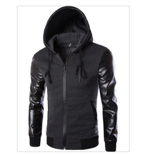 Load image into Gallery viewer, Men's Leather Long Sleeve Jacket