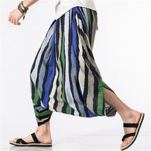 Load image into Gallery viewer, Fashion Casual Vacation Loose Strip Harem Pants