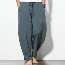 Load image into Gallery viewer, Fashion Casual Sport Cotton Loose Plain Harem Long Pants