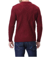 Load image into Gallery viewer, Mens  Casual Round Collar Slim Fit Plain Sweater