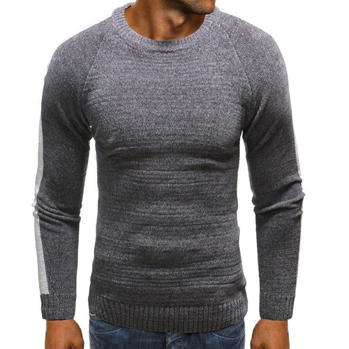 Mens  Casual Winter Plain Split Joint Sweater
