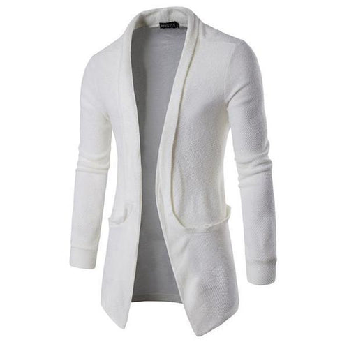 Gentle Business Fashion Slim Plan V Collar Long Sleeve Men Outerwear