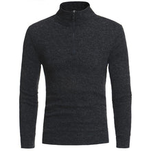 Load image into Gallery viewer, Fashion High Collar Slim Fit Plain Zipper Sweater