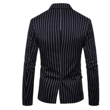 Load image into Gallery viewer, Gentle Formal Stylish Slim Strip Button V Collar Long Sleeve Men Suit Outerwear