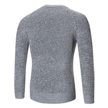 Load image into Gallery viewer, Fashion Round Collar Plain Slim Fit Sweater