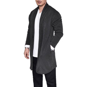 Fashion Plain Winter Knit Long Coat