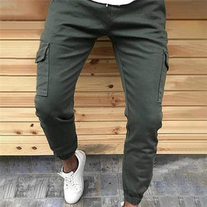 Casual Fashion Loose Solid Color Sport Men Pants