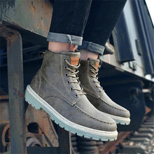 Load image into Gallery viewer, Business Fashion Casual Solid Color High Tube Men Martin Boot Shoes
