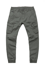 Load image into Gallery viewer, Mens Washed Multicolor Pocket Jogger Pants