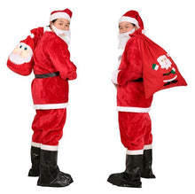 Load image into Gallery viewer, Halloween Red Plain Belt Santa Claus Suit