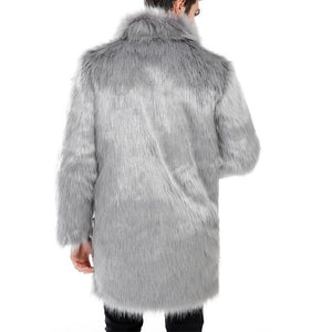 Men's Fur Coat Fur Coat Long Thick Warm