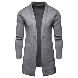 Fashion Hot Sale Knitting Textile Lapel Woolen Plain Coat