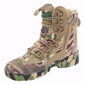 Desert Camouflage High-Top Warm Boots