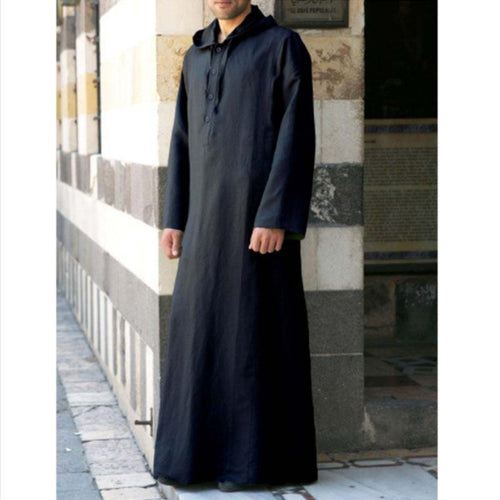 Turkish Robes Men's Hooded Trench Coat