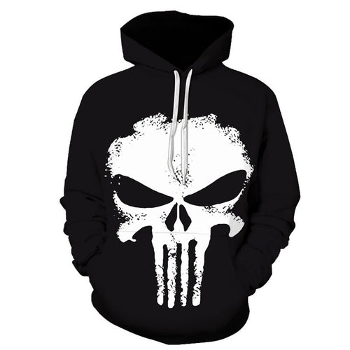 Casual Fashion Print Long Sleeve Men Sport  Hoodie