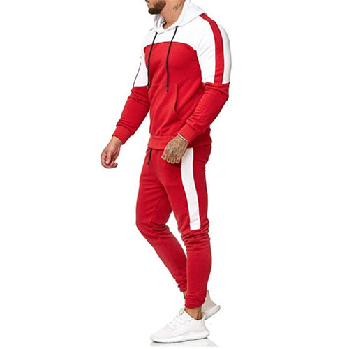 Casual Plain Loose Sport Hoodie Suits