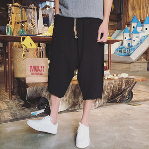 Casual Plain Loose Linen Pants
