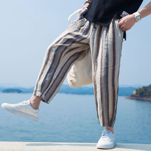 Men's New Style Striped Harem Pants