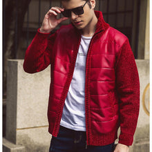 Load image into Gallery viewer, Plus velvet collar cotton short fashion jacket wild clothes men