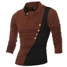 Load image into Gallery viewer, Fashion Asymmetrical Lapels Splicing Long-Sleeve T-Shirts