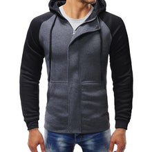 Load image into Gallery viewer, Men's casual slim zipper cardigan hooded sweater coat