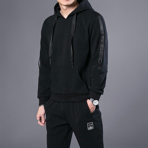 Autumn sweater suit men's hooded sports suit