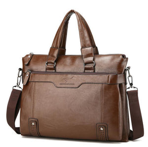 One-shoulder   crossbody briefcase business bag
