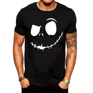 Stylish Prsonality Smile  Short T-shirts