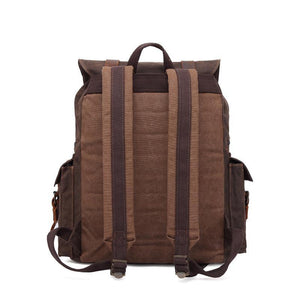 Men's oil wax canvas outdoor travel backpack