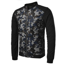 Load image into Gallery viewer, Fashionable hollow out stand up collar camouflage casual jacket