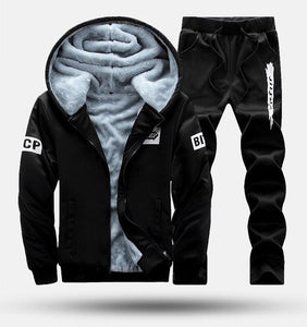 Men's Warm Woolen Thicker Sport Suit, Breathable and Comfortable
