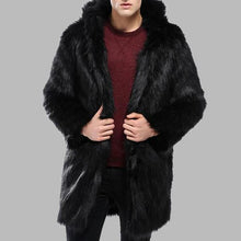 Load image into Gallery viewer, Men's Fur Coat Fur Coat Long Thick Warm