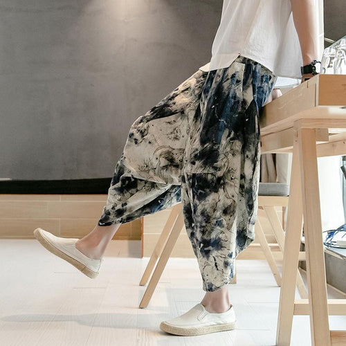 2019 New Fashion Tie-Dyed Style Printed Loose Pants