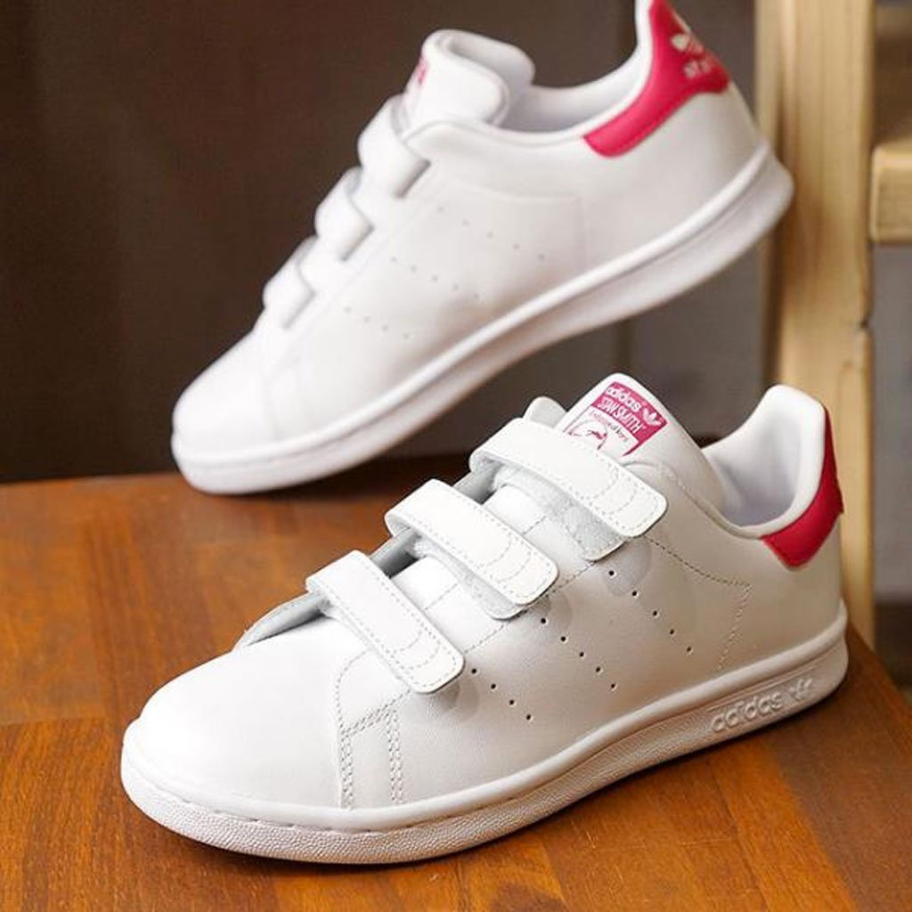 Adidas Stan Smith - Sneakers Bambina Bianco Rosa