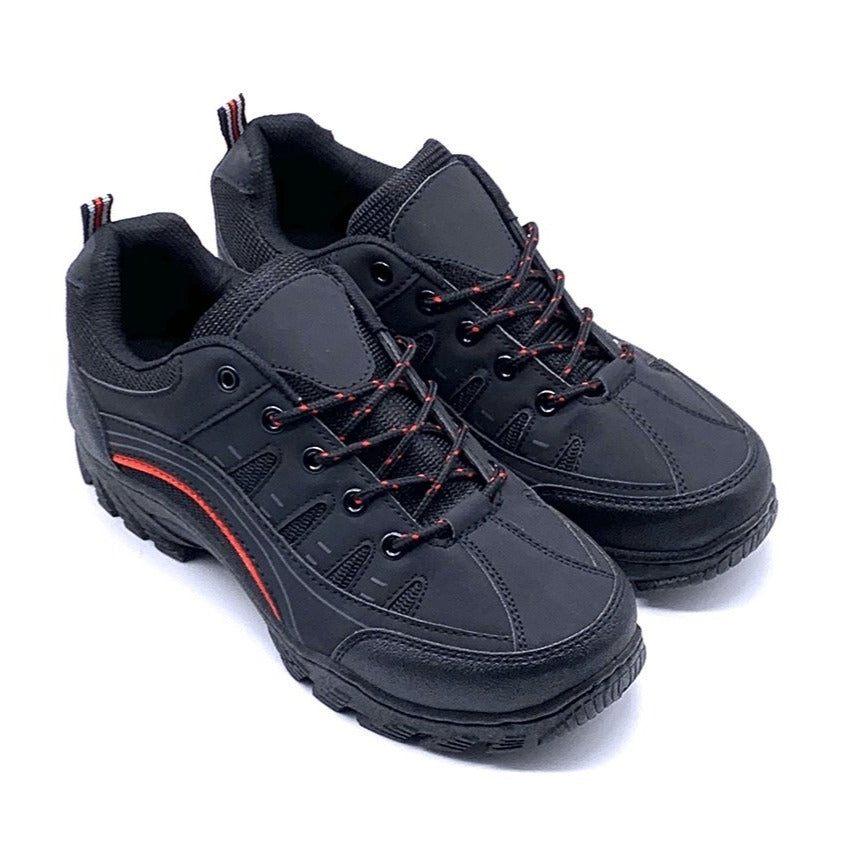 G. LS Shoes - Scarponcini Neri Outdoor Bassi Trekking