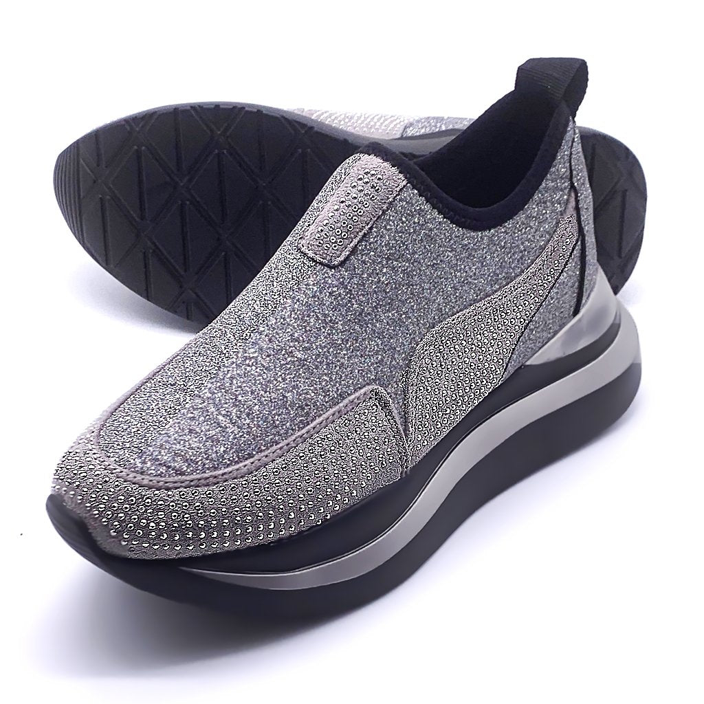 Slip-On Donna con Strass Brillanti Chic Lady