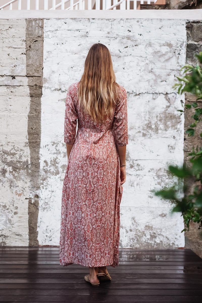 ALICIA VEIL COTTON & SILK LONG DRESS - EDITION LIMITED