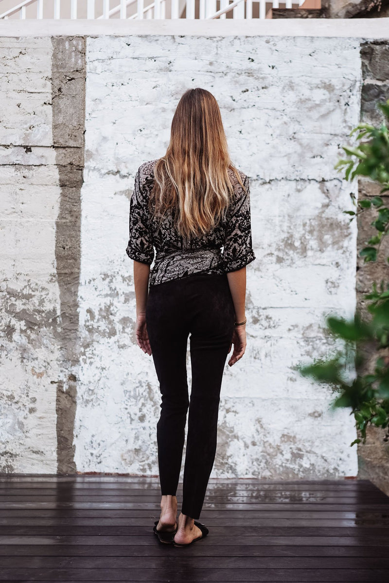 BEGONIA VELVET SILK TOP - LIMITED EDITION