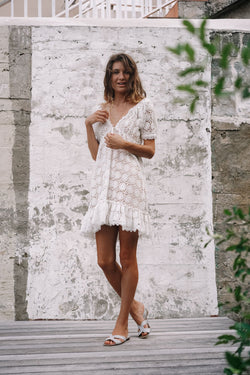 CAMELIA LACE CROCHET DRESS