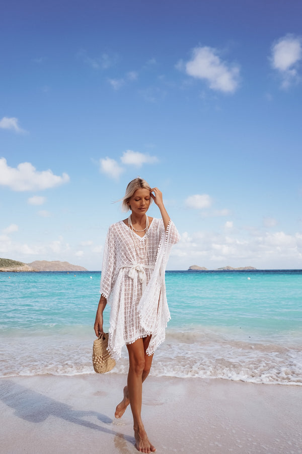 DORALINE CROCHET COTTON KAFTAN