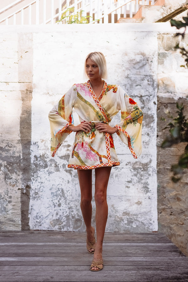 FABIANA VEIL COTTON & SILK KIMONO - LIMITED EDITION