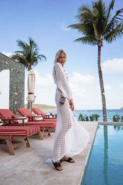 IBIZA CROCHET COTTON LONG DRESS