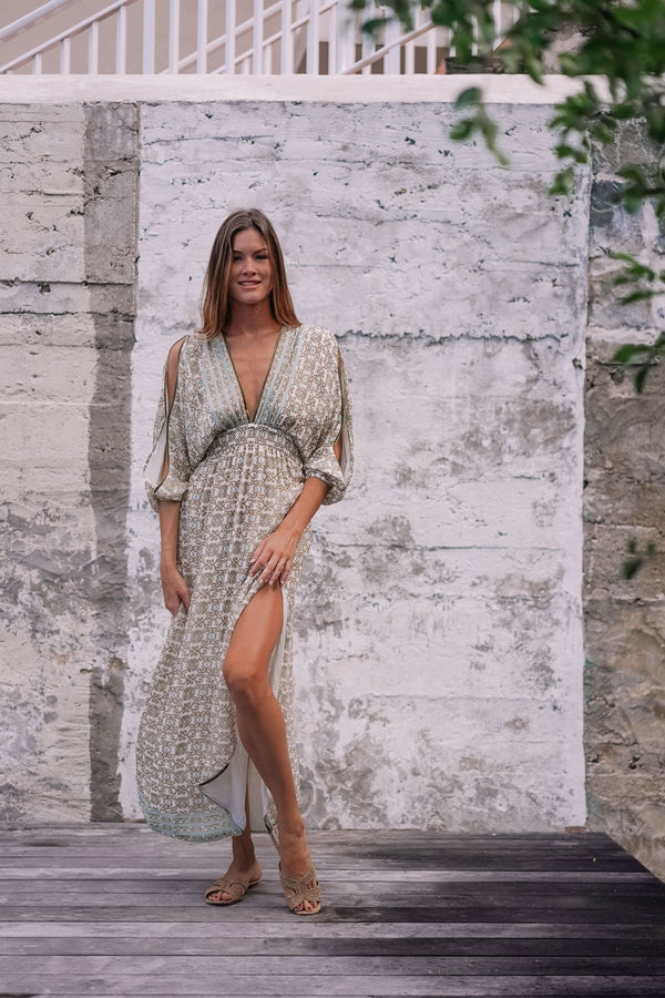 IBIZA CHIFFON SILK LONG DRESS