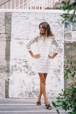 JACKY LACE CROCHET DRESS