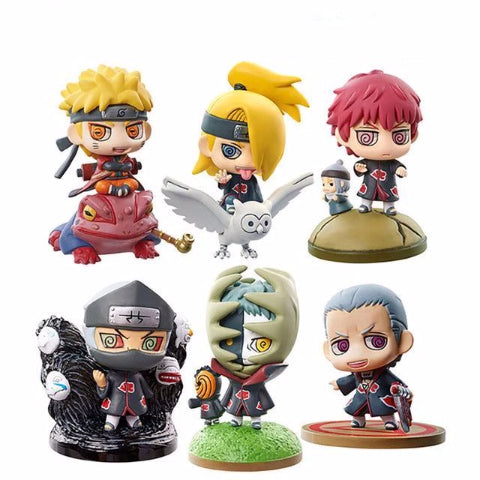 Pack Figurines Akatsuki