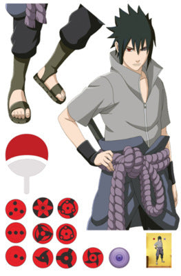 Pack de stickers Sasuke Uchiwa