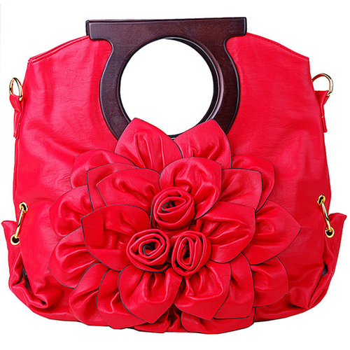 Simple flower large capacity handbag