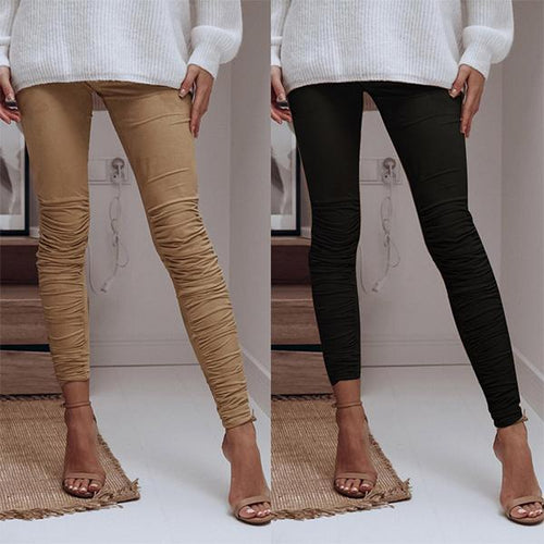 Sexy Slim Crease Design Stretch   Pants