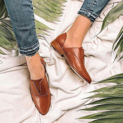 Fashion Pointed Toe Plain Flat Shoes